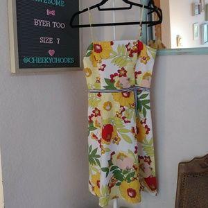 Vintage 90s Byer Too! sundress A line floral funky